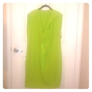 Lime Green Tahari Dress